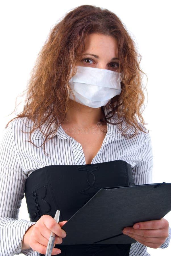 офис микстуры маски девушки стоковые фото