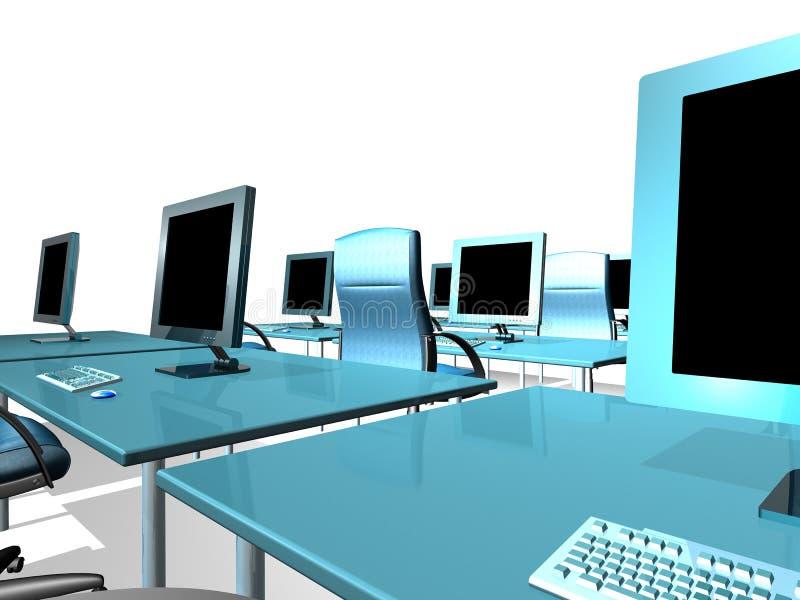офис монитора lcd иллюстрация вектора