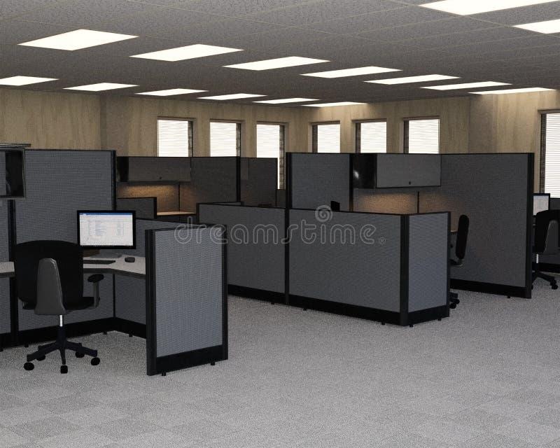 Офис объема продаж торгово-промышленных предприятий, кабины, кубы стоковое изображение rf