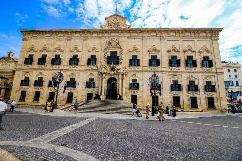 Офис Премьер-министра, Валлетты, Мальты стоковое изображение