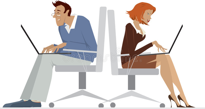 офис работников иллюстрация вектора
