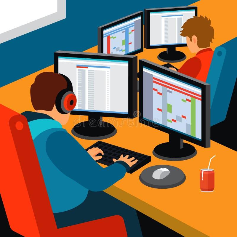 Офис разработки программного обеспечения иллюстрация штока