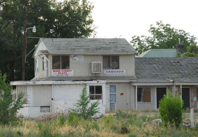 Офис старой получившейся отказ гостиницы стоковая фотография