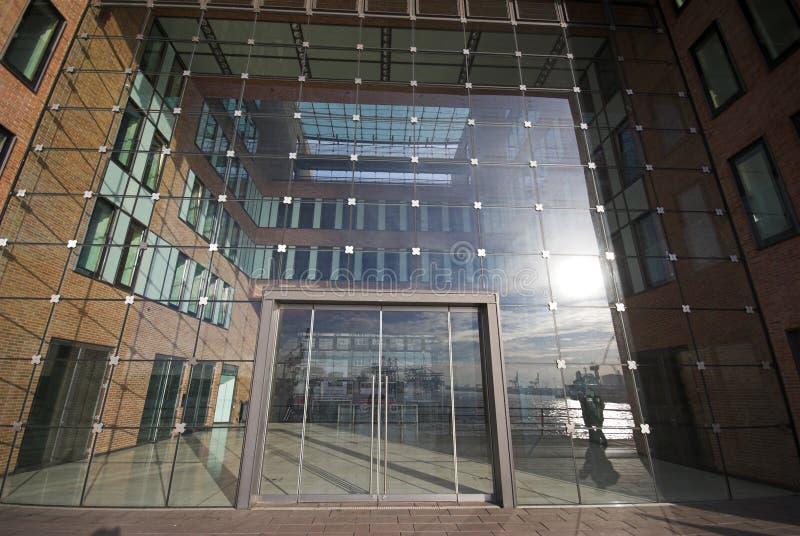 офис стекла входа стоковые фотографии rf
