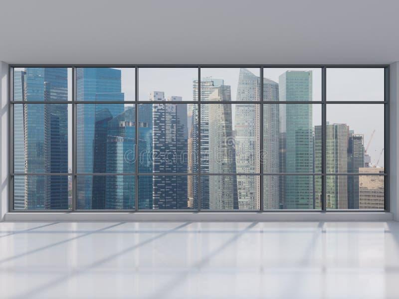 Офис с большим окном стоковые изображения rf
