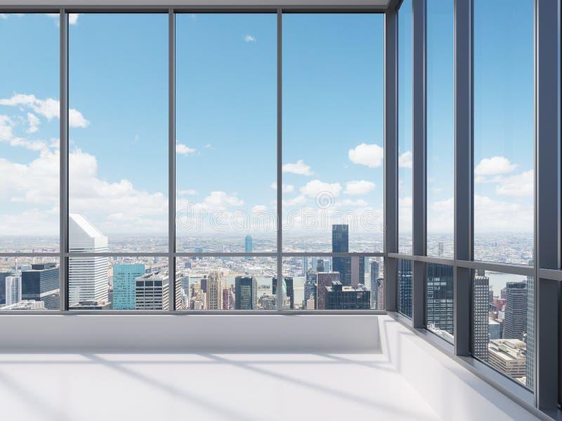 Офис с большим окном стоковое фото rf