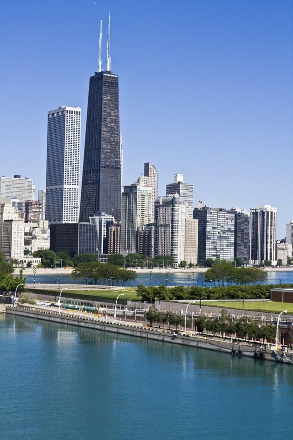 офис chicago зданий стоковое изображение rf