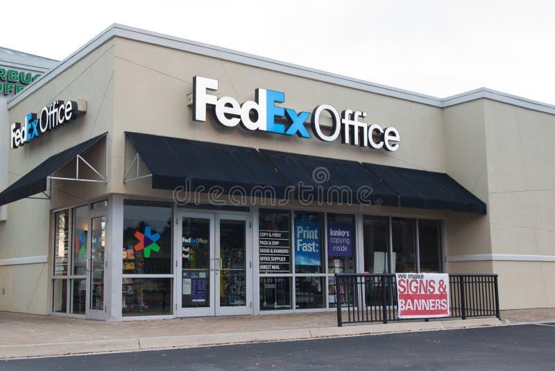 Офис Federal Express стоковая фотография