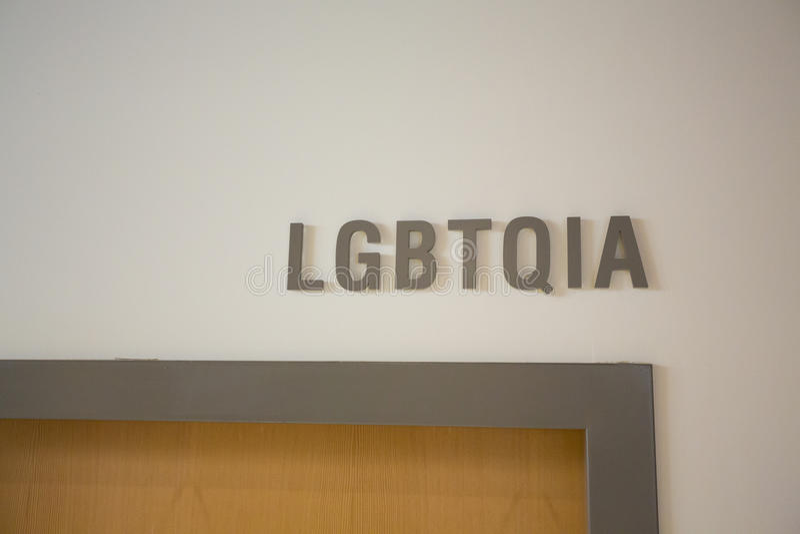 Офис LGBTQIA на школе стоковая фотография