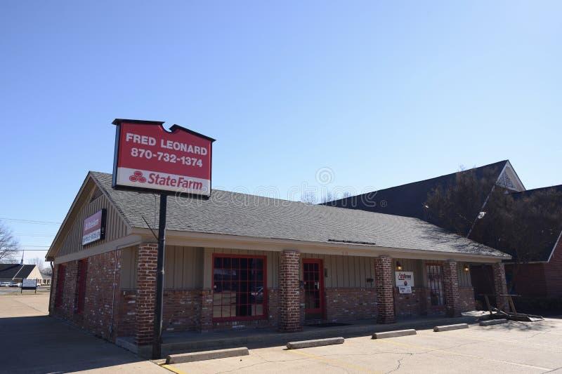 Офис State Farm Insurance, западный Мемфис, Арканзас стоковое изображение