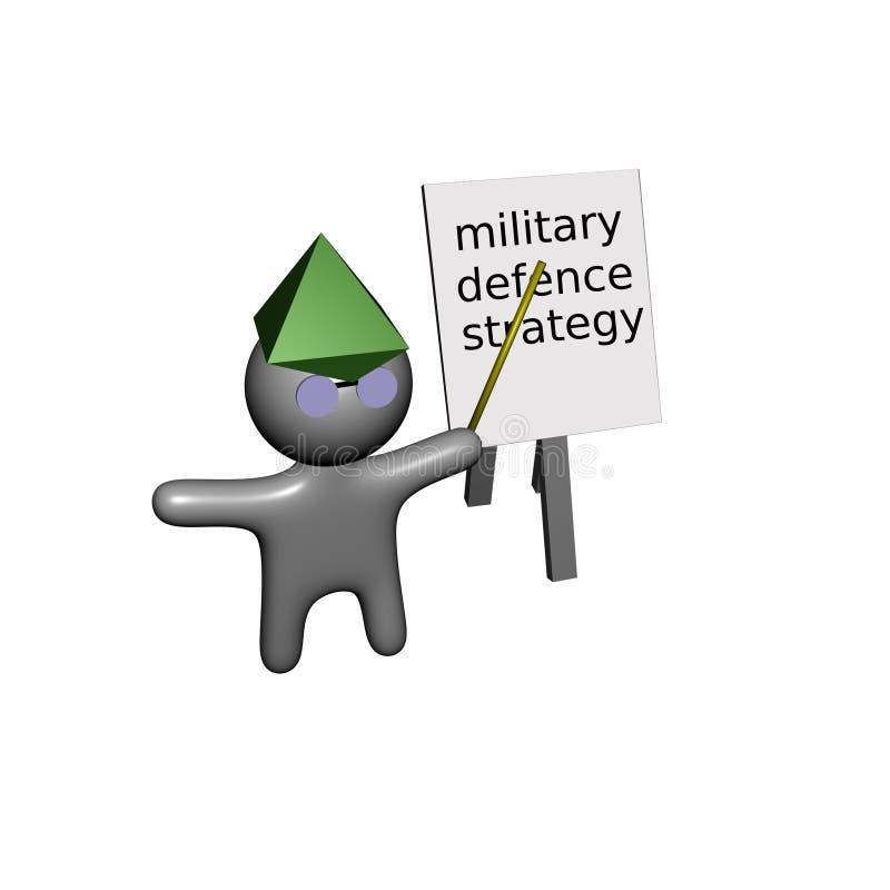 офицер армии инструкции иллюстрация вектора