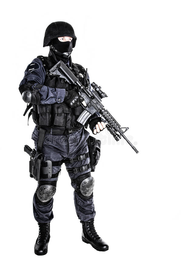 Офицер СВАТ стоковое фото