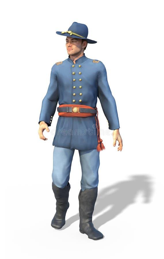 Офицер соединения гражданской войны иллюстрация вектора