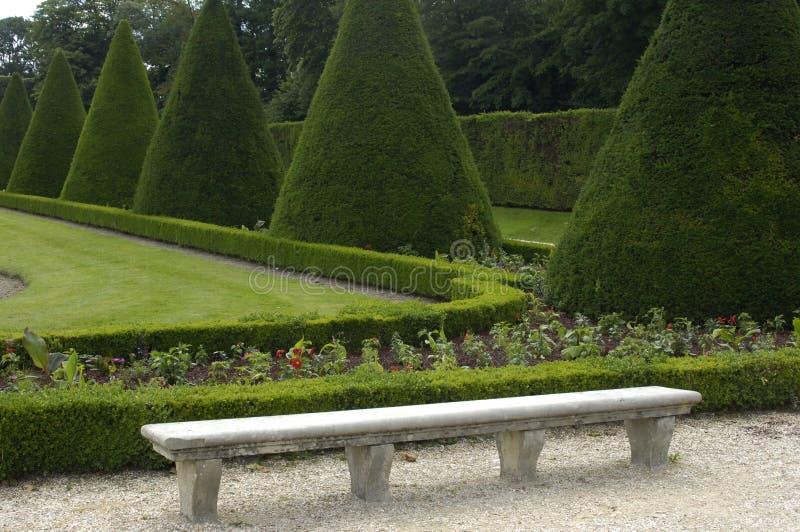 официально французский сад стоковое фото rf