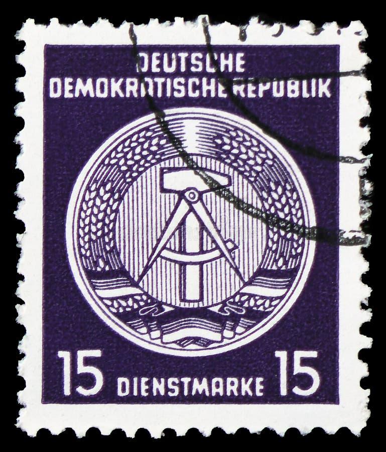 Официальные печати для столба b администрации (I), serie, около 1954 стоковые фото