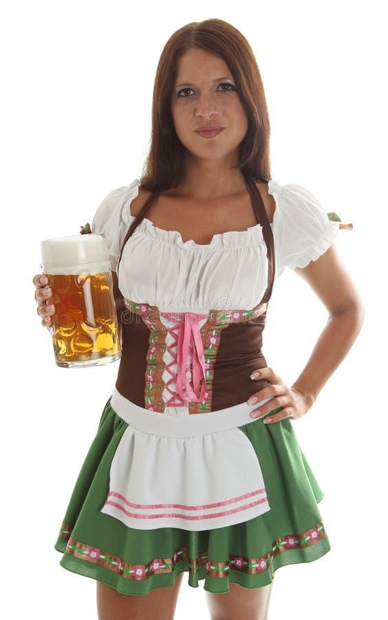 официантка баварской кружки удерживания пива oktoberfest стоковые изображения rf