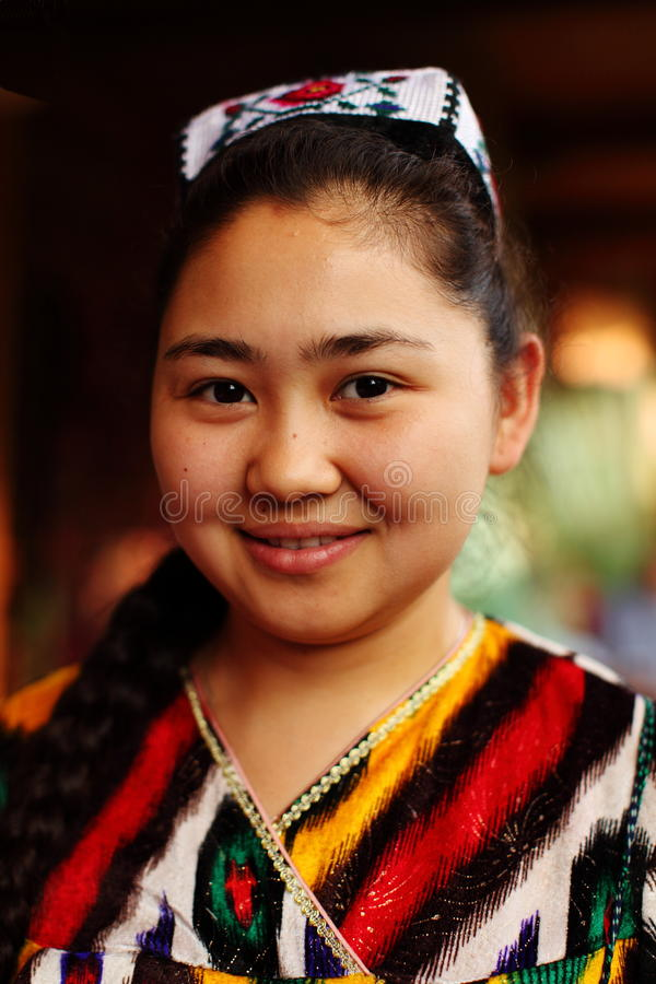 Официантка от Алма-Аты, Казахстан стоковая фотография rf