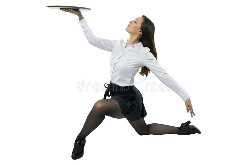 Официантка танцев стоковое фото