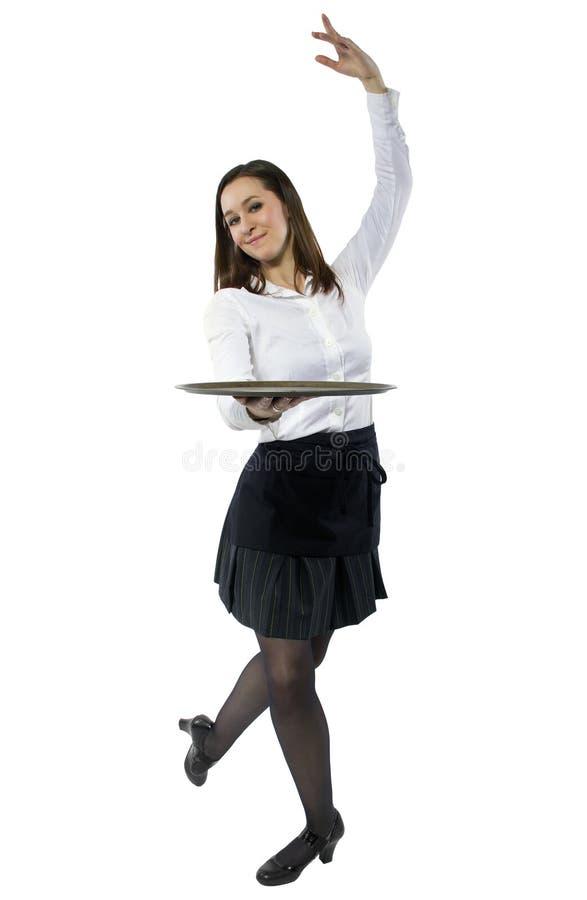 Официантка танцев стоковые фотографии rf