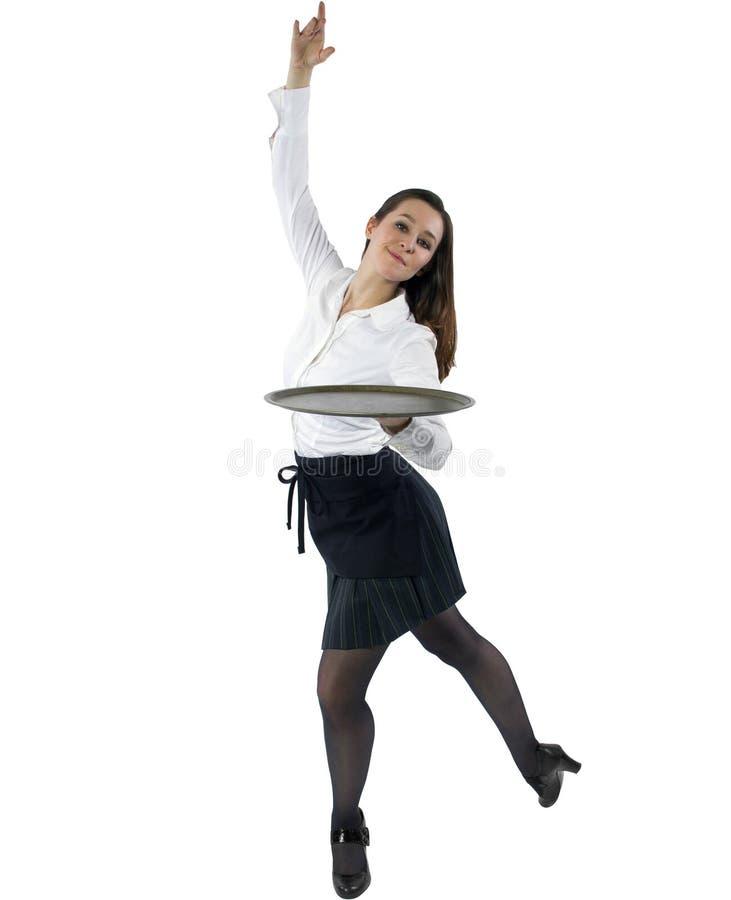 Официантка танцев стоковая фотография rf