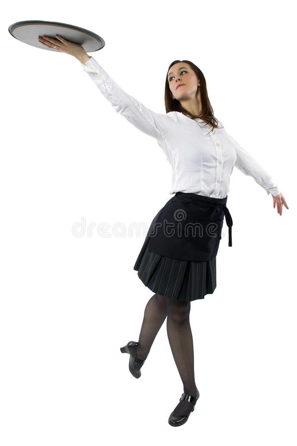 Официантка танцев стоковые изображения rf