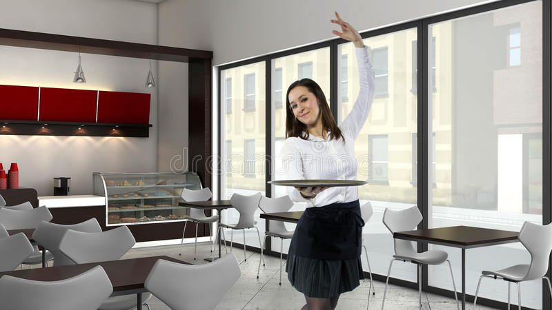 Официантка танцев стоковые изображения