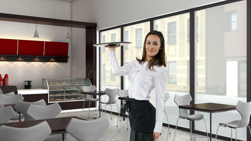 Официантка танцев стоковое изображение rf
