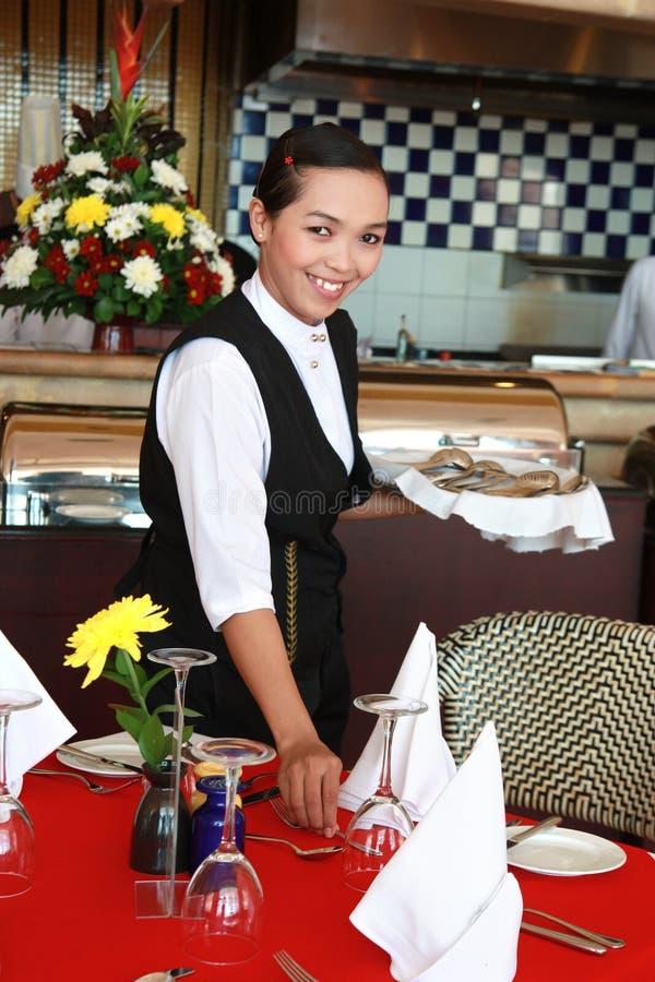 официантка стоковая фотография