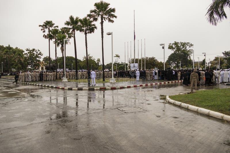 Официальное уважение оплаты к покойному королю Bhumibol Adulyadej стоковые фото