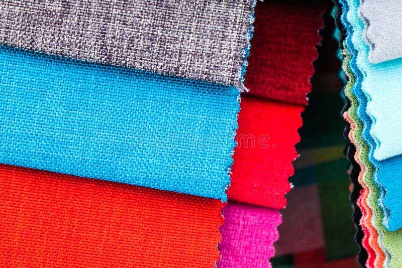 Оформитель дома вышивки образцов ткани стоковое фото