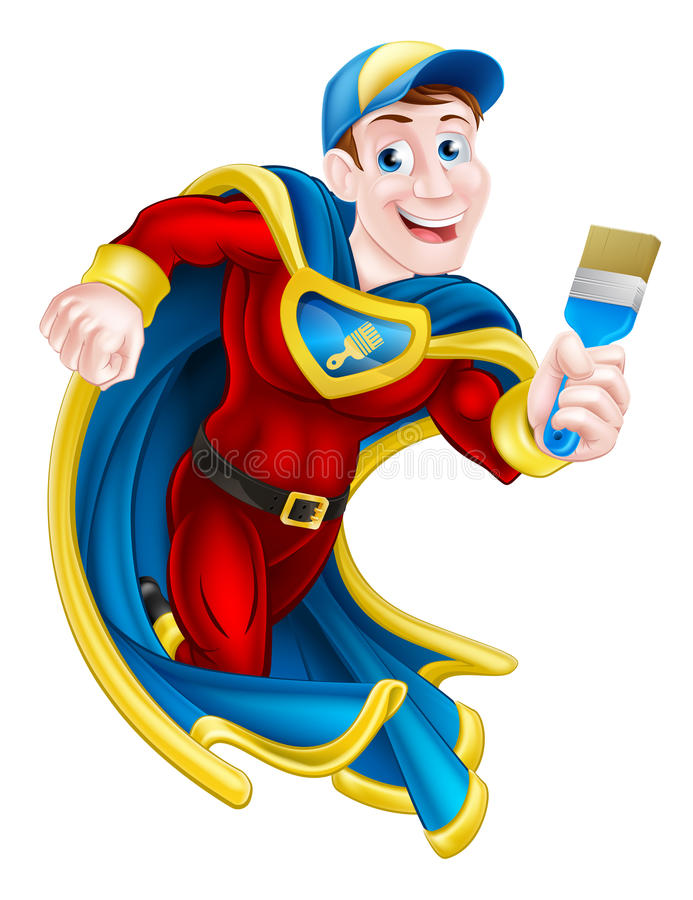Оформитель супергероя бесплатная иллюстрация