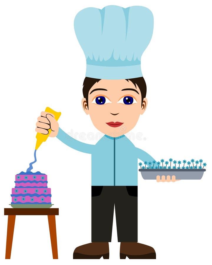 Оформитель торта иллюстрация вектора