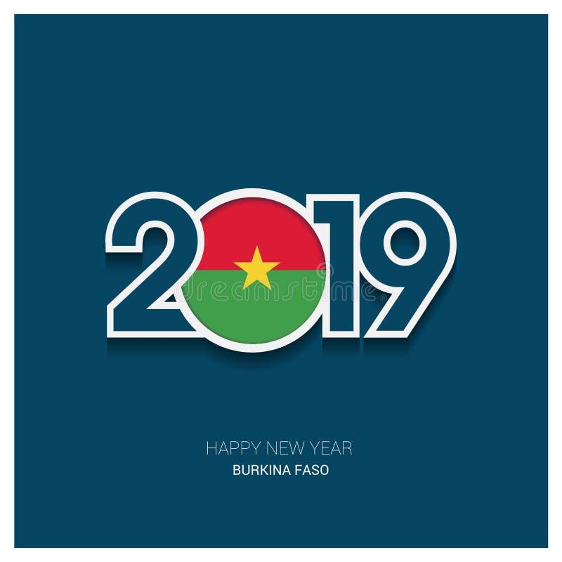 2019 оформление Буркина-Фасо, С Новым Годом! предпосылка иллюстрация вектора