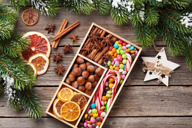 Оформление еды рождества стоковая фотография rf