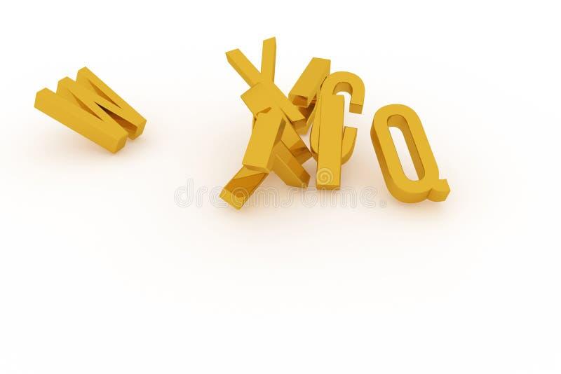 Оформление CGI конспекта предпосылки, алфавитный знак для письма ABC хорошего для дизайна иллюстрация вектора