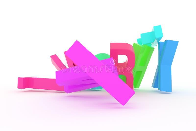 Оформление CGI конспекта предпосылки, алфавитный знак для письма ABC хорошего для дизайна Образование, форма, стиль & красочное бесплатная иллюстрация