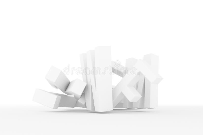 Оформление CGI конспекта предпосылки, алфавитный знак для письма ABC хорошего для дизайна Беспорядок, художественное произведение иллюстрация вектора
