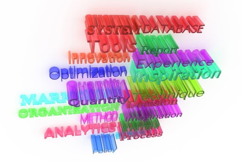 Оформление CGI конспекта предпосылки, дело связало ключевые слова для дизайна, графического ресурса иллюстрация вектора
