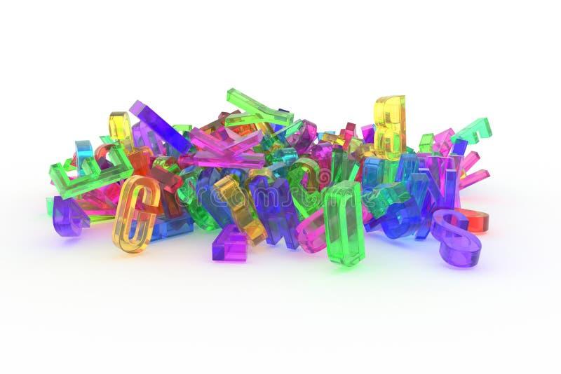 Оформление CGI конспекта предпосылки, письмо ABC, алфавита хорошего бесплатная иллюстрация