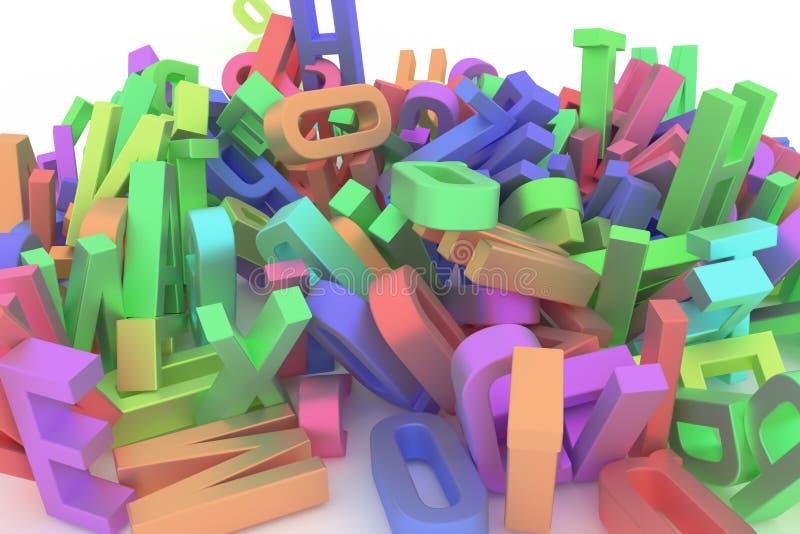 Оформление CGI конспекта предпосылки, письмо ABC, алфавита хорошего иллюстрация вектора