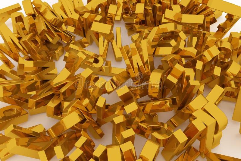 Оформление CGI, письмо алфавитного знака ABC для текстуры дизайна, предпосылки Фон, моделирование, графический & образование бесплатная иллюстрация