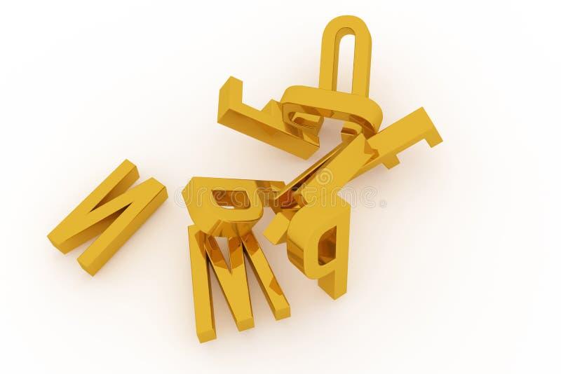 Оформление CGI, письмо алфавитного знака ABC для текстуры дизайна, предпосылки Иллюстрация, слово, стиль & перевод бесплатная иллюстрация