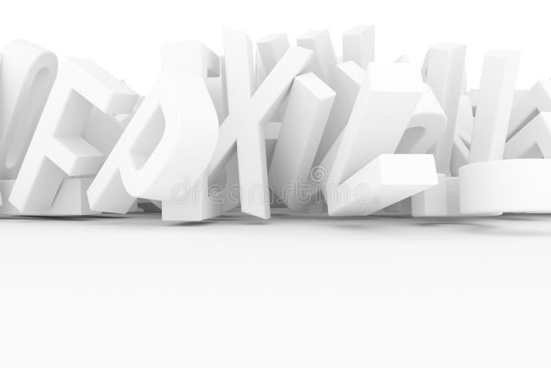 Оформление CGI, письмо ABC, алфавита для текстуры дизайна, задней части иллюстрация вектора