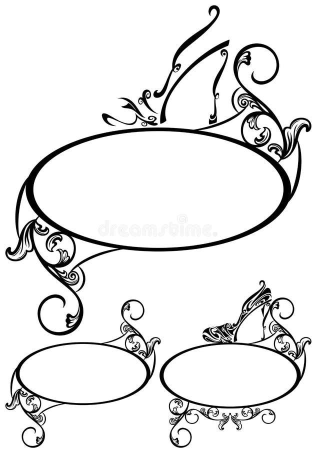 Оформление ботинка иллюстрация штока