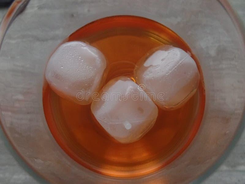 Охладители льда в основанном на спирт spritz питье коктеиля увиденное от верхней части стоковое изображение rf