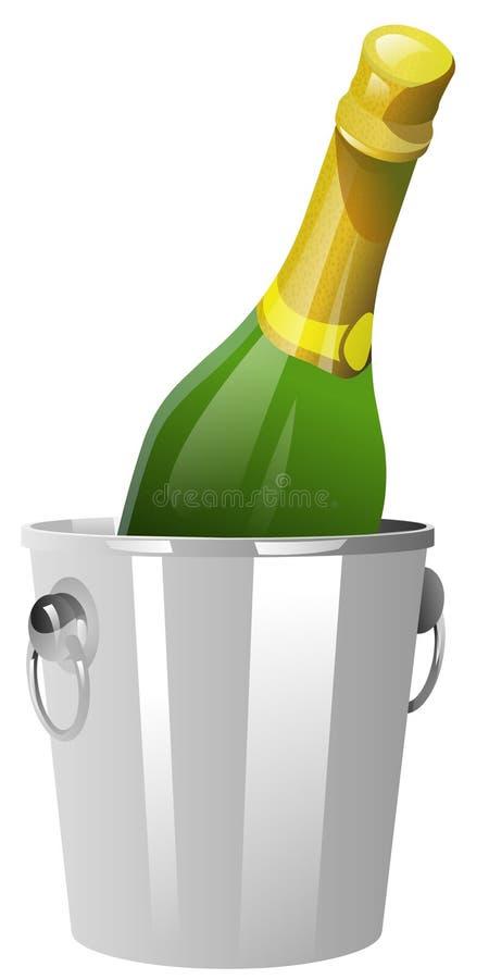 охладитель шампанского иллюстрация штока