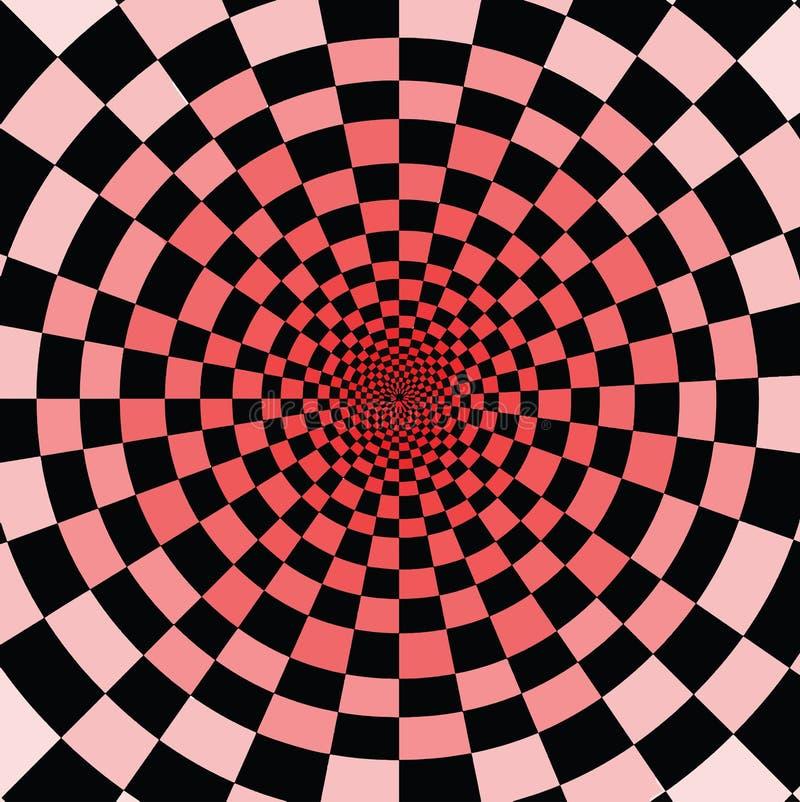 Охладите для того чтобы наблюдать его Чернота и красные площади иллюстрация вектора
