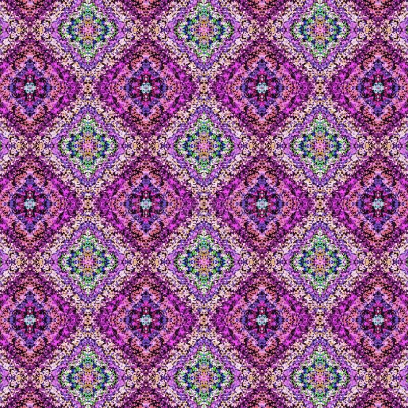 Охладите текстурированные квадраты и косоугольники в безшовном дизайне бесплатная иллюстрация