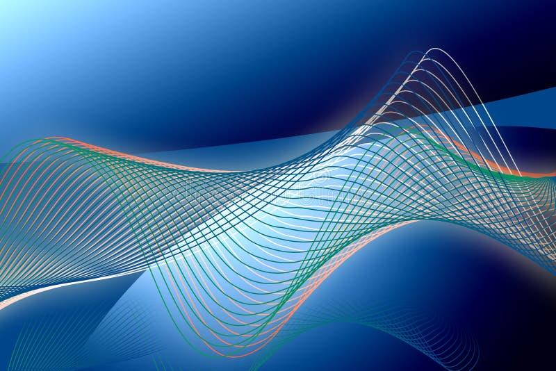 охладьте волны иллюстрация вектора