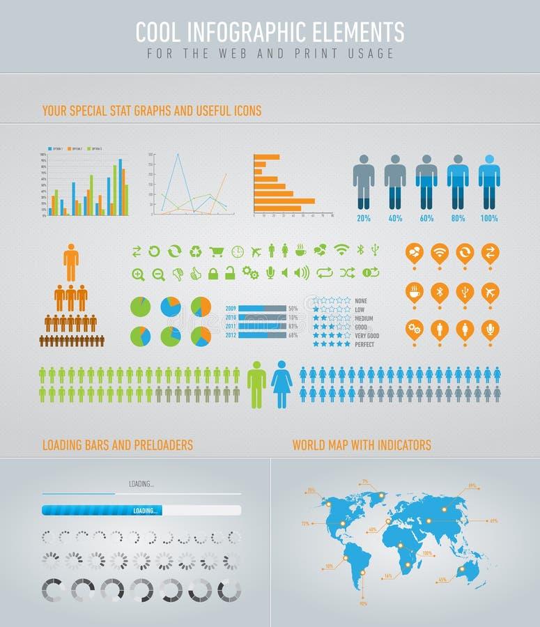 охладьте элементы infographic бесплатная иллюстрация